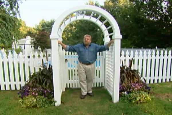 Learn how to assemble and install an outdoor arched arbor kit; watch a video containing valuable assembly and installation tips.