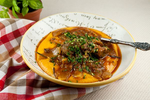 Braised Lamb Shanks with Sweet Potato Polenta~making this on the first ...