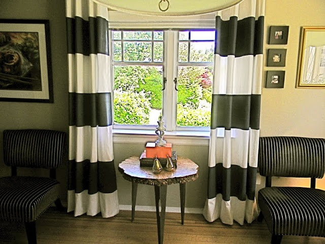 The Design Pages: Painted Curtains