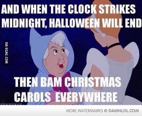 Is it bad that I wanna skip Halloween festivities tonight and go Christmas shopping??