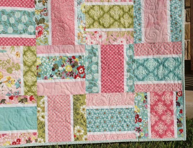 Layer Cake Quilt Square Patterns : PDF Quilt Pattern Pinstripe Layer Cake Squares. USD9.00, via ...