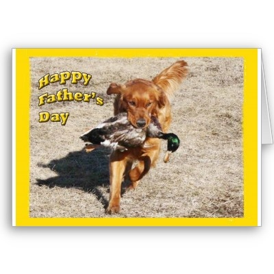 golden retriever father's day cards