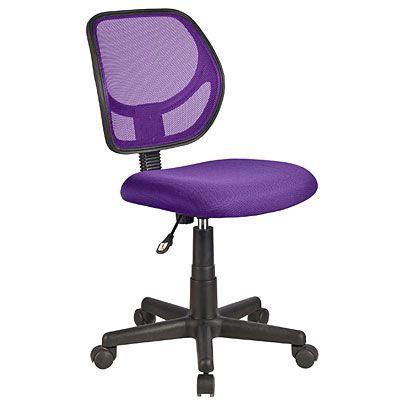 Purple Mesh fice Chair at Big Lots Home