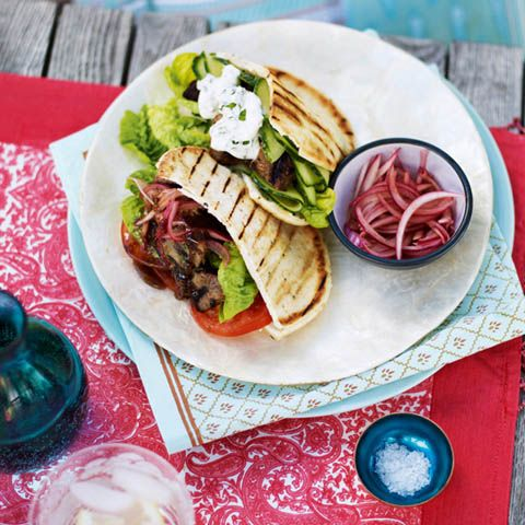 Indian Barbecue by Anjum Anand, Lamb salad naan pockets with quick ...