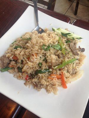 Spicy Fried Rice Dish :Thai jasmine rice stir-fried with basil, green ...
