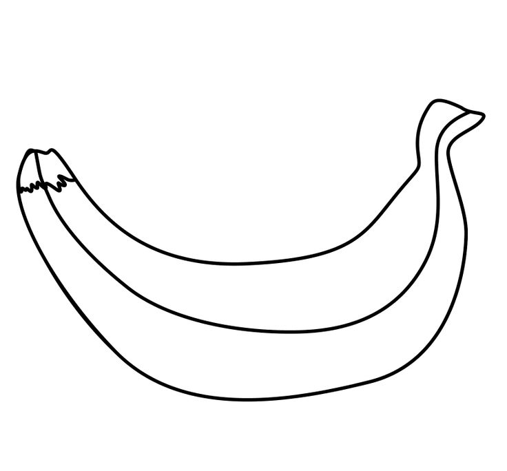 peeled banana coloring pages - photo#21
