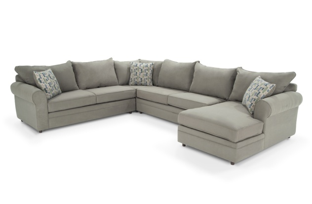 4 piece sectional bob39s furniture living room pinterest for Bobs furniture living room sectionals