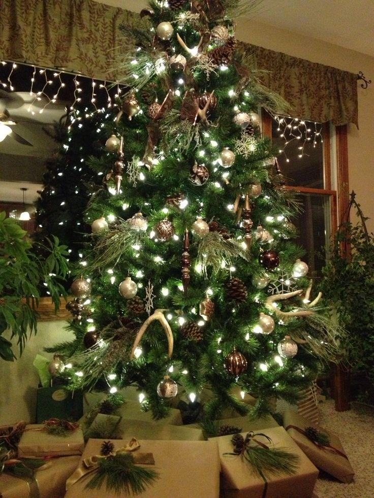 Rustic Christmas Tree Christmas Pinterest