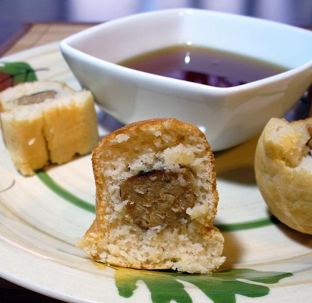 Pancakes & Sausage on a Stick -wrap sausage in pancake batter, fry or ...