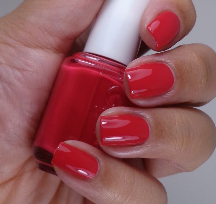 New Favorite Nail polish...Awesome pink/red.  I'm totally in love. Essie spring 2014, style hunter