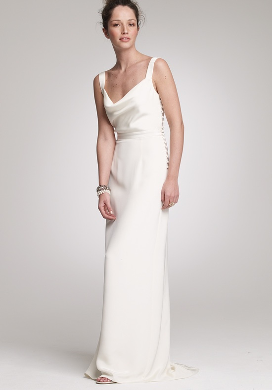 simple draped second wedding dress for when he asks