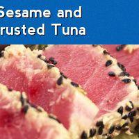 Pan-Seared Sesame and Chia Seed Crusted Tuna