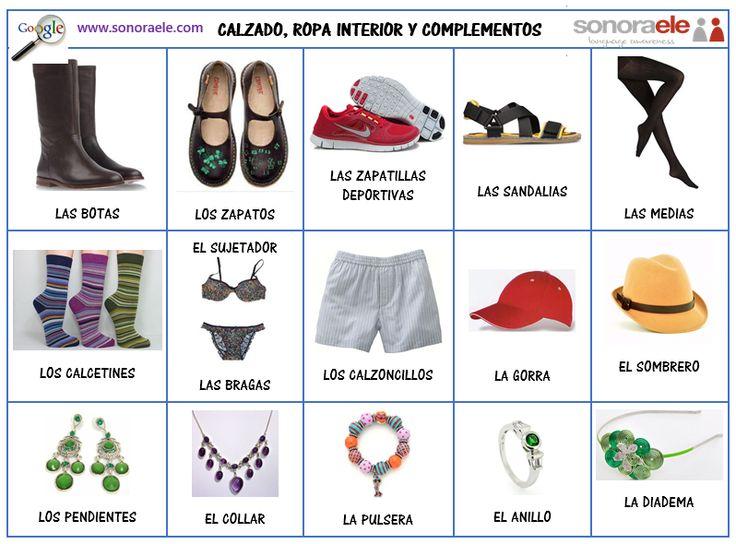 Vocabulario de inglés de ropa y accesorios - Imagui
