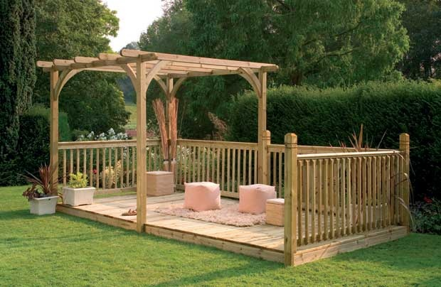 Diy pergola kits uk project shed for Cheap decking kits sale