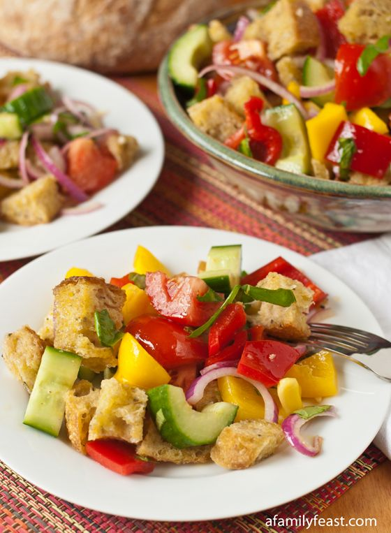 Panzanella bread salad -- With pan-fried bread and a mustardy ...