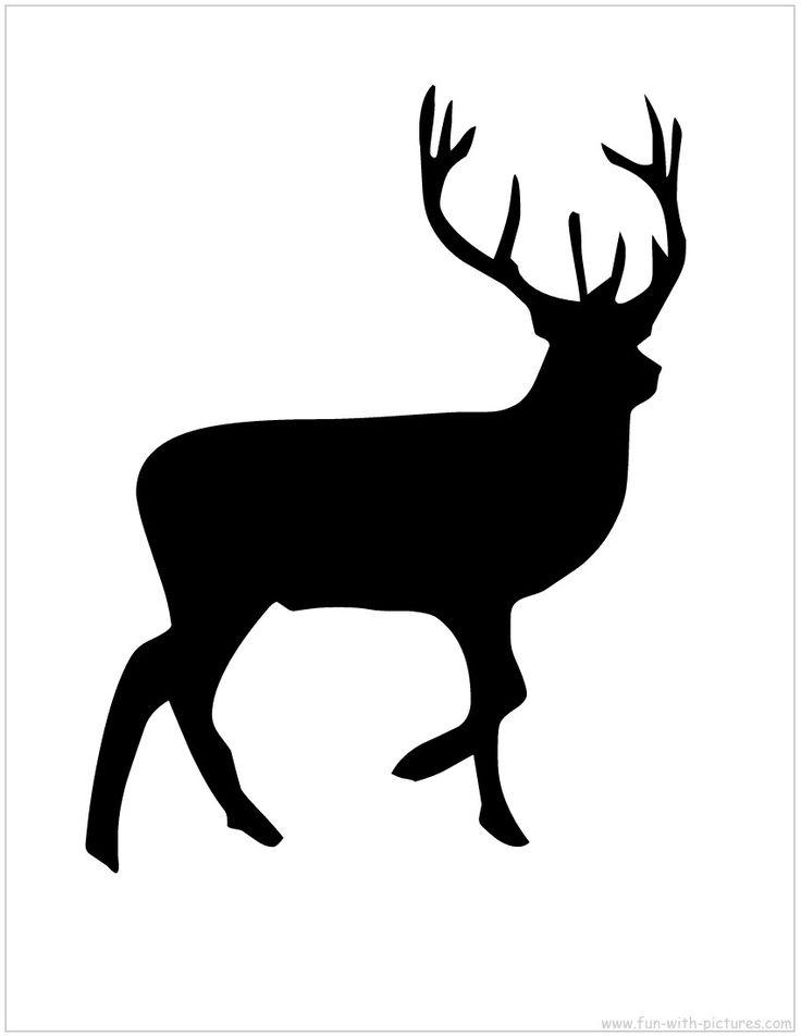 Reindeer silhouette free printable xmas pinterest