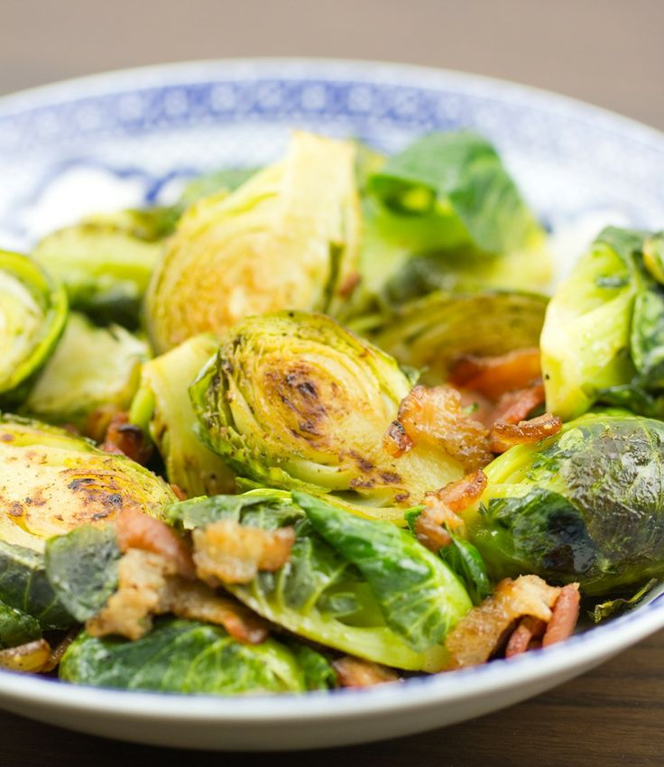 Brussels Sprouts with Bacon and Thyme | Side Dishes | Pinterest