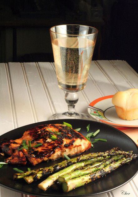 ... litle soy sauce and rice vinegar to it Honey-Ginger Grilled Salmon