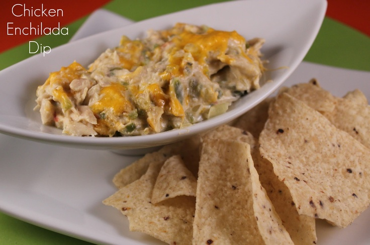 Chicken Enchilada Dip | Recipes ~ Appetizers, Dips and Snacks! | Pint ...