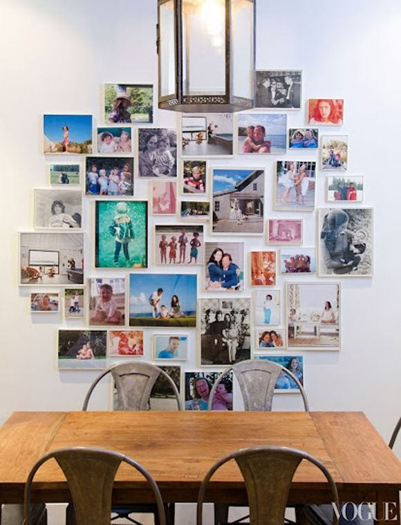 A Colorful & Cool Family Photo Display