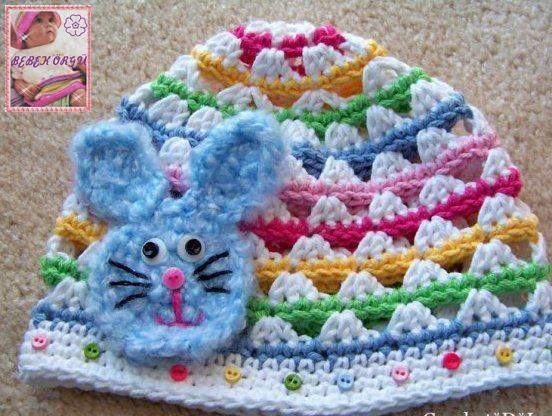 colores sombreros de punto para bebés