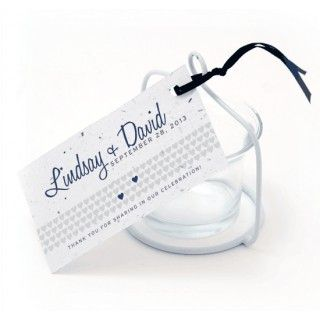 Two hearts plantable favor tags more colors available wedding