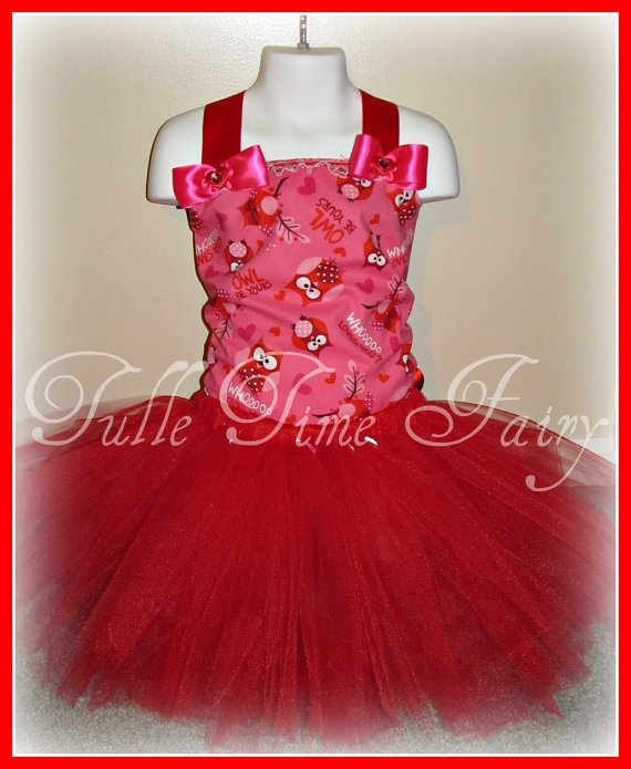 Valentines Owl always love you corset tutu birthday by Tulletime, $35