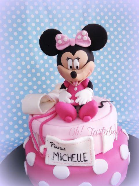 Tarta Minnie sentada | Mis tartas, mis cosas | Pinterest