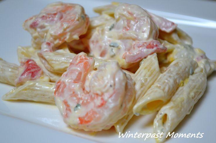 shrimp pasta salad   Winterpast Moments   Recipes - Sides   Pinterest