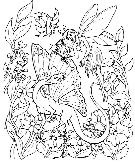 fairy coloring pages pinterest - photo#9