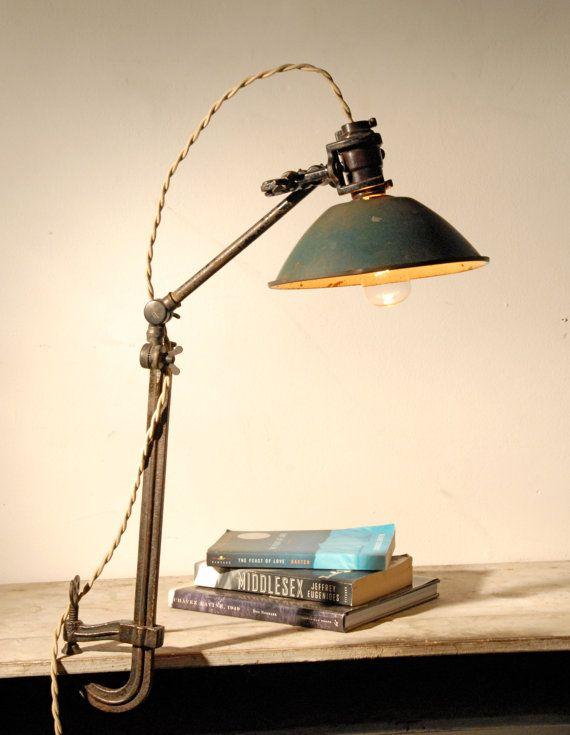 vintage clamp desk lamp by californiarediscover on etsy. Black Bedroom Furniture Sets. Home Design Ideas