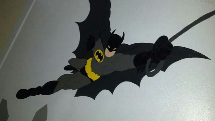Wall mural batman projects ive done pinterest for Batman wall mural uk