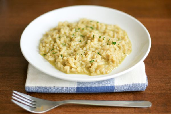 Leek Risotto with Mustard Parsley Coulis | Go grains! | Pinterest