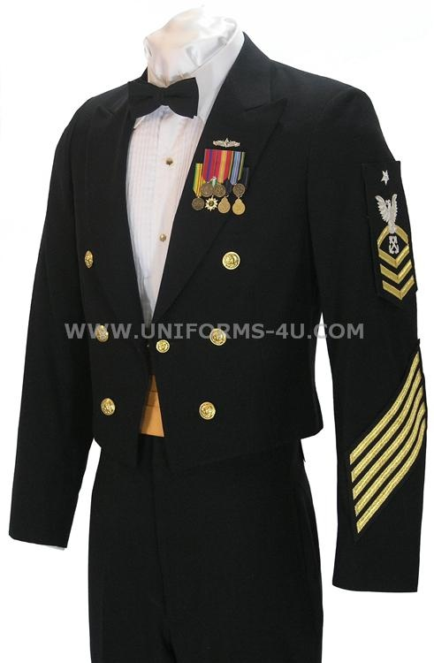 US Navy Enlisted Dinner Dress Blue (Navy Tux)