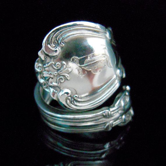 sterling silver spoon ring easily distracted by shiny