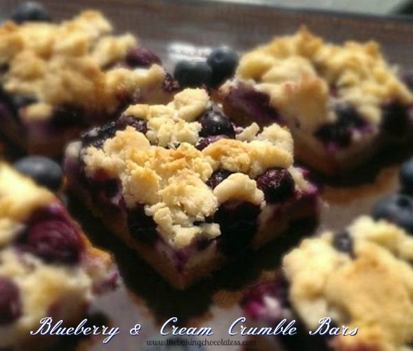 Blueberry & Cream Crumble Bars – The Baking ChocolaTess