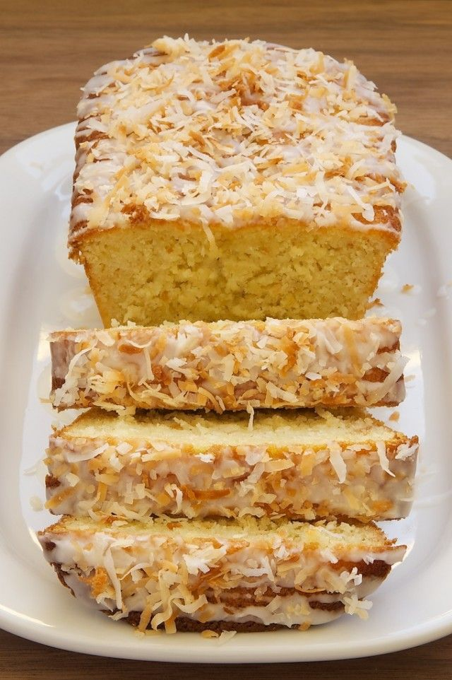 Coconut-Buttermilk Pound Cake Recipe — Dishmaps