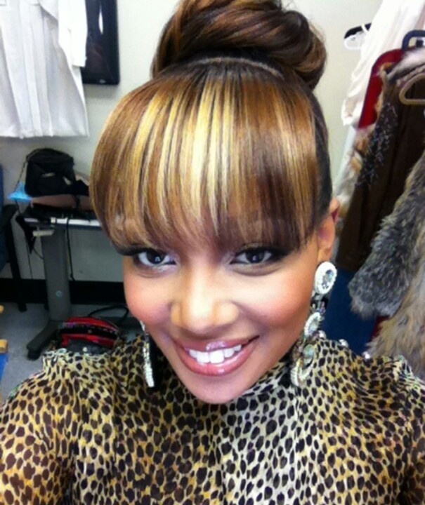 bun with bangs hairstyles : Bun with bangs BLACK HAIRSTYLES Pinterest