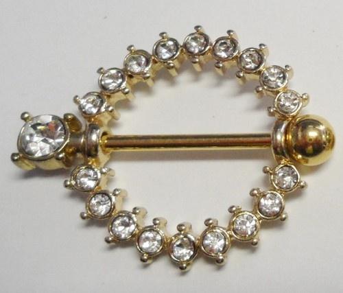 Gold Nipple D Rings