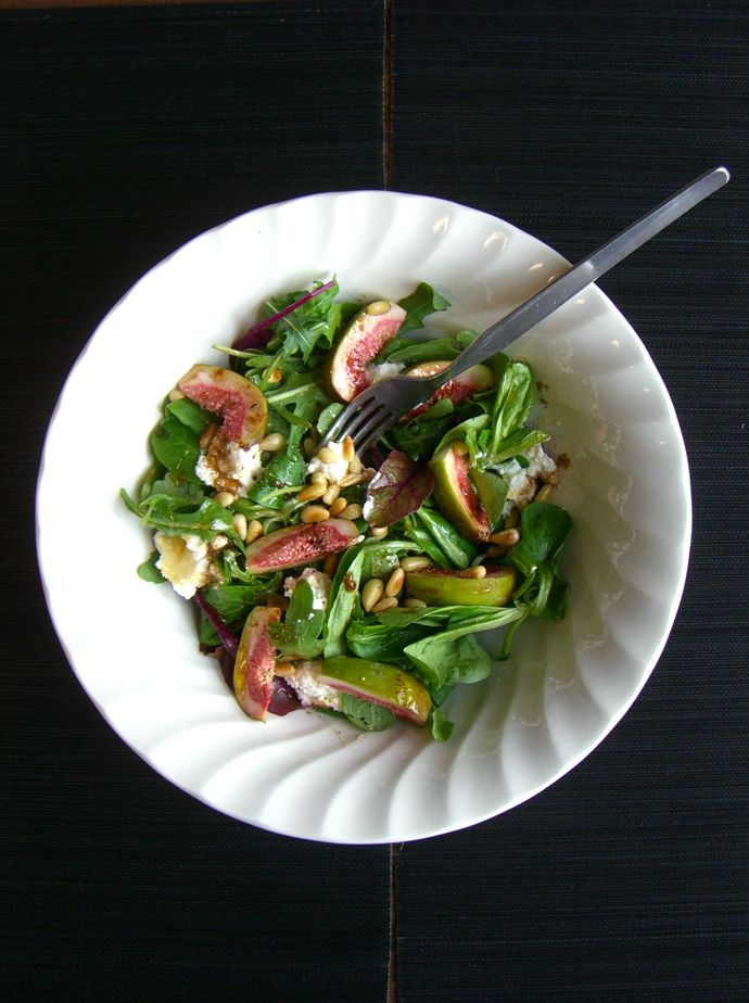 Fig, Ricotta + Honey Salad with Pine Nuts + Pepitas // Chocolate ...