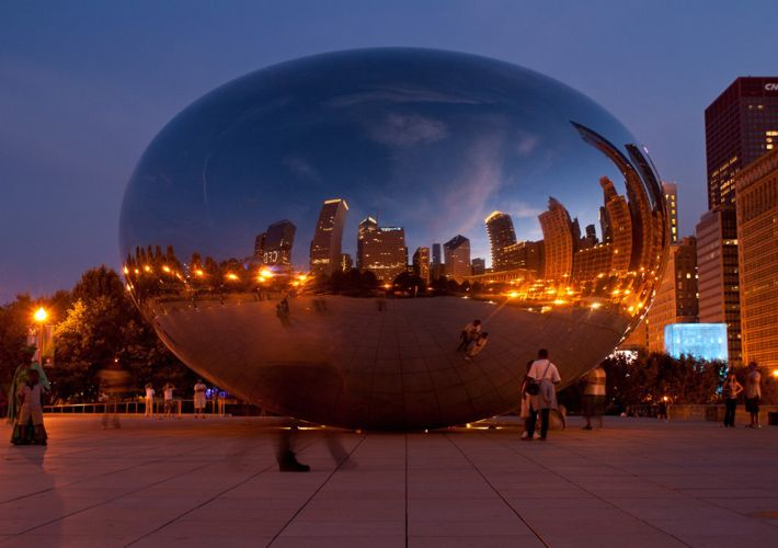 anish-kapoor-cloud-gate-Cloud Gate By Anish Kapoor