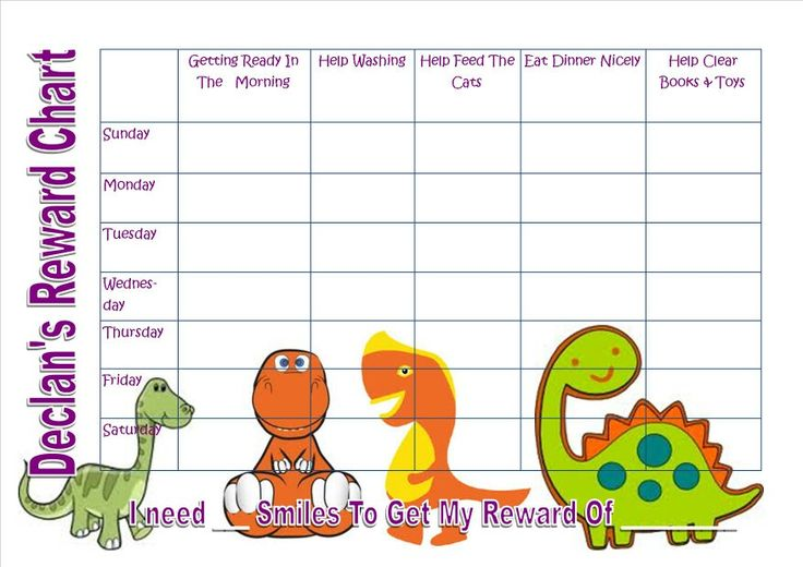 Reward chart I made today for my 2 year old.... will be laminated so ...