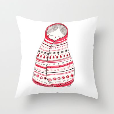 cuddle up Throw Pillow by Rubyetc - $20.00