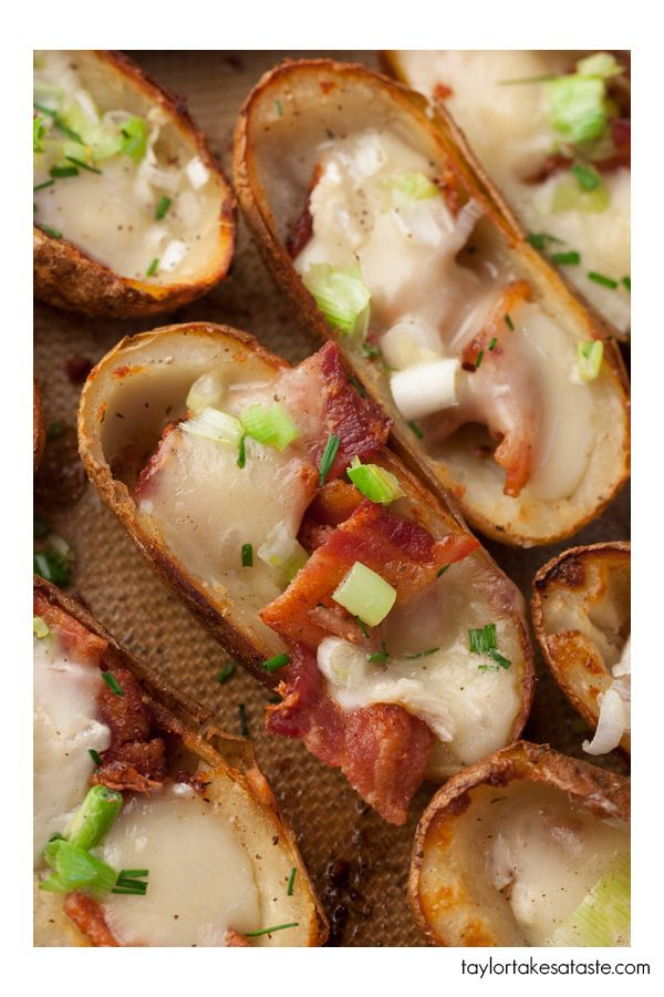 Bacon And Brie Sweet Potato Skins Recipes — Dishmaps