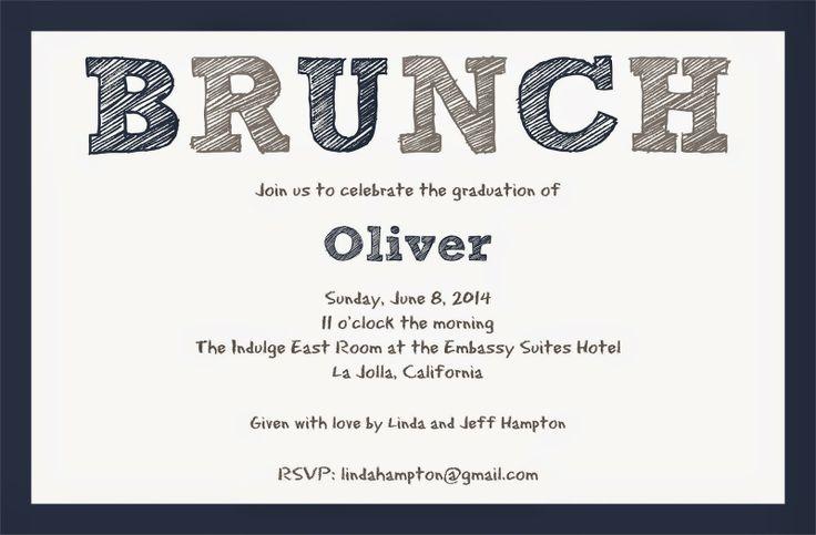 graduation brunch invitation | Paperworkshop | Pinterest