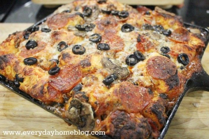 Pepperoni and Mushroom Pizza Monkey Bread by The Everyday Home. It's ...