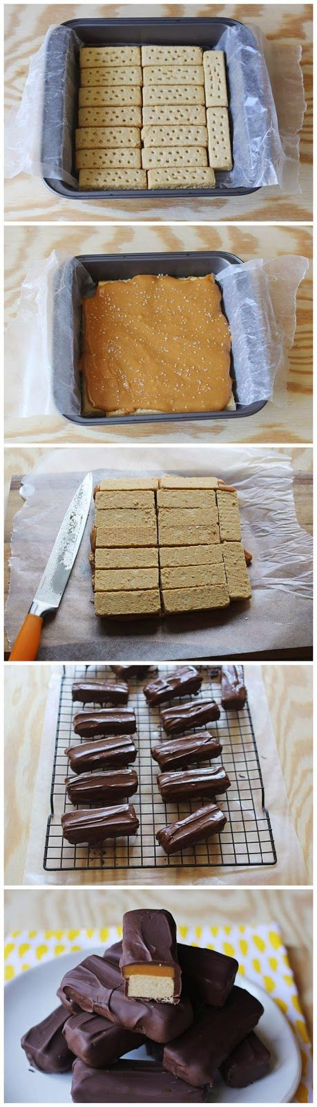 HOMEMADE TWIX BARS | Cookie & Candy Ideas | Pinterest