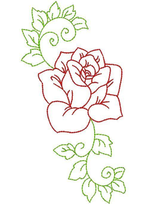 Цветок. рисунок для вышивки 342