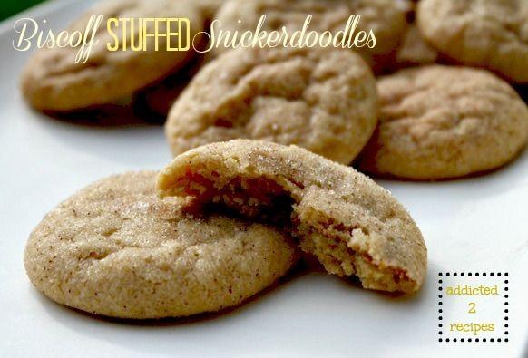Biscoff Cookies Cookies Stuffed Snickerdoodles