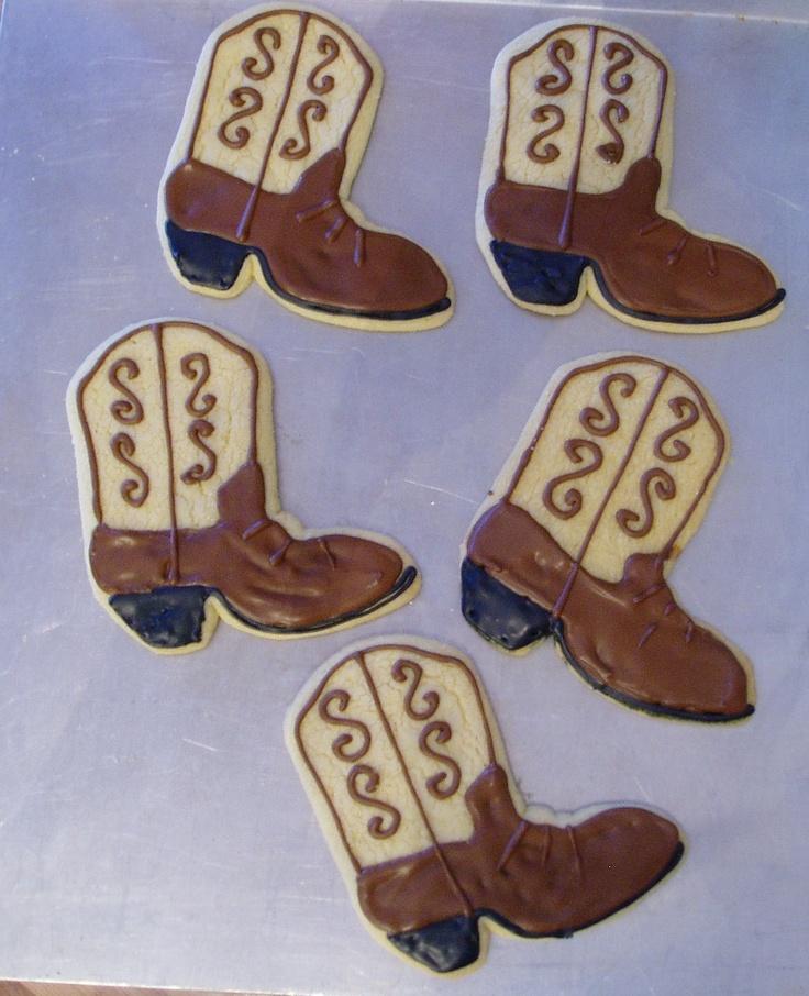 Cowboy Boot Cookies | Cookies - Cowboy | Pinterest